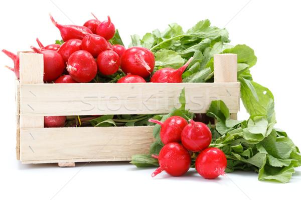 Fresco vermelho rabanete comida Foto stock © erierika