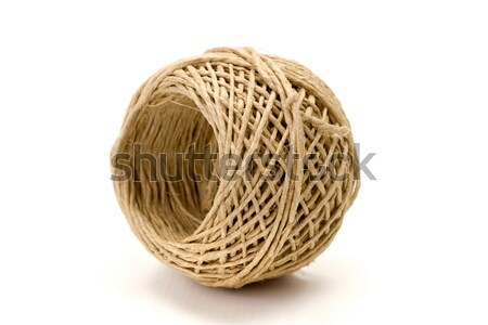 Przewód naturalnych biały liny ciąg Zdjęcia stock © erierika