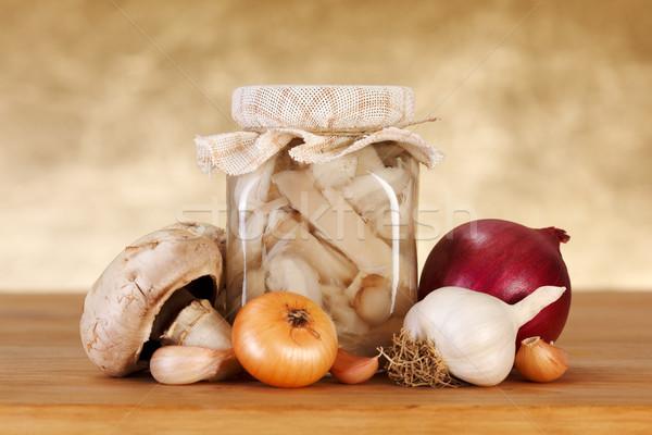 Pickled mushrooms Stock photo © erierika