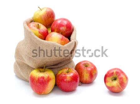 リンゴ 黄麻布 新鮮な 赤 ストックフォト © erierika