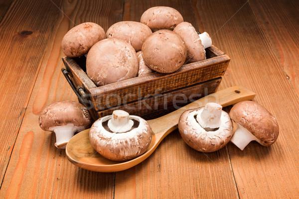 Fresco marrom caixa conselho comida Foto stock © erierika
