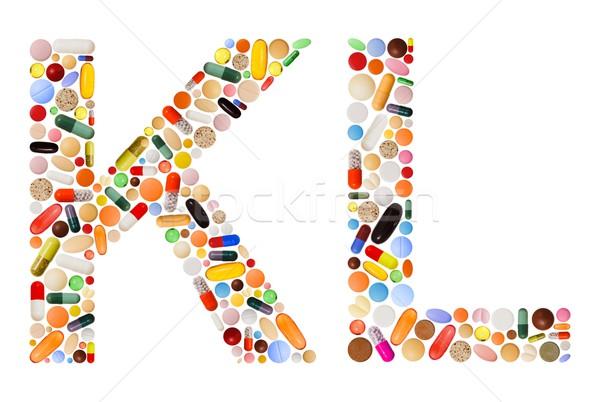 Colorido pílulas cápsulas projeto Foto stock © erierika