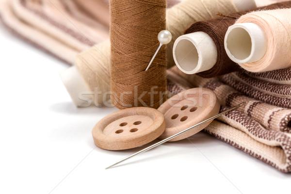 Brown sewing kit Stock photo © erierika