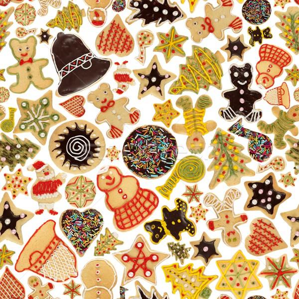 Foto stock: Sem · costura · natal · bolinhos · decorado · bolinhos
