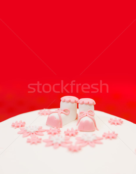 Baptist topper on white cake Stock photo © erierika