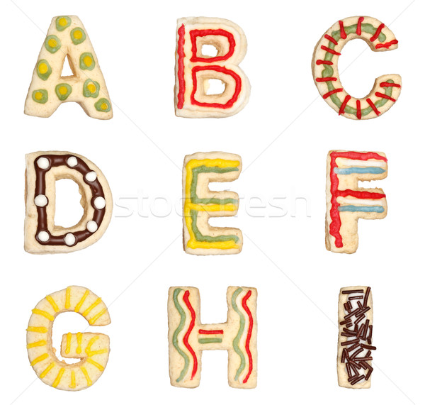 Letters A to I from decorated cookies  Stock photo © erierika