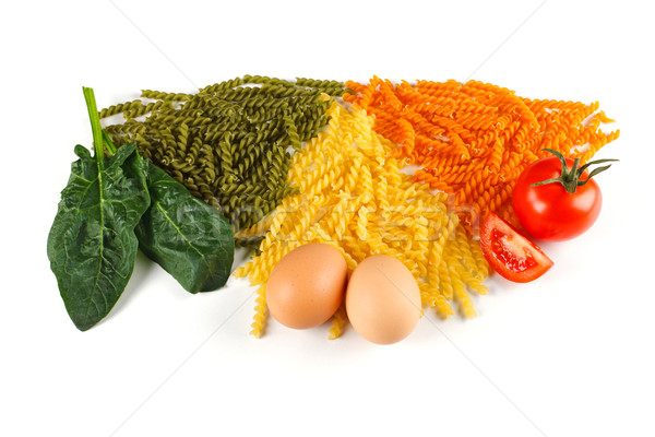Bunch of naturally colored pasta Stock photo © erierika