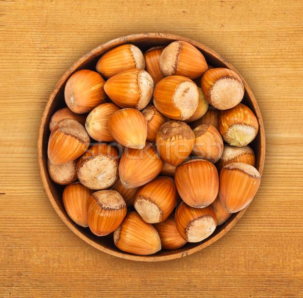 Hazelnuts in pot Stock photo © erierika