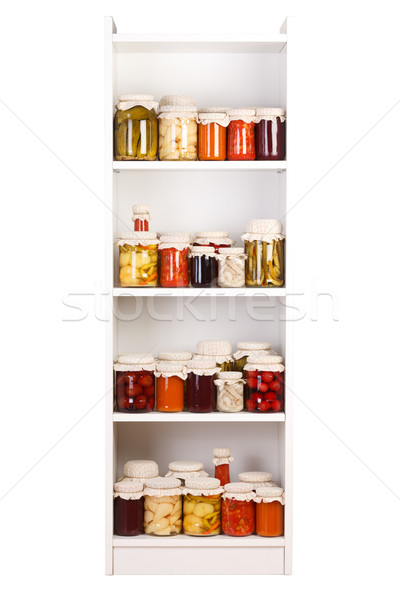 Shelf with various preserves  Stock photo © erierika