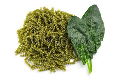 Makarna doğal yeşil doğal olarak renkli Stok fotoğraf © erierika