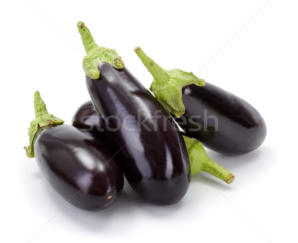 Pile of fresh ripe eggplants (Solanum melongena) Stock photo © erierika