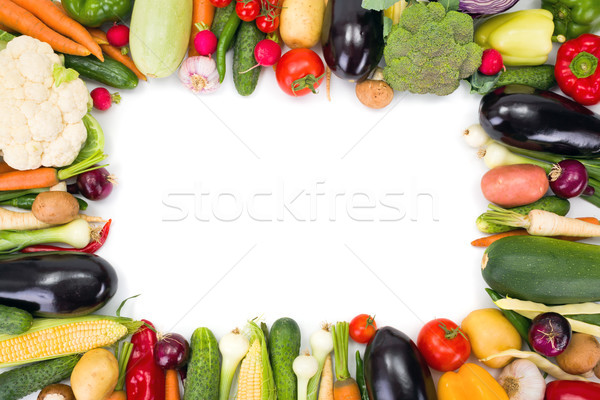 Various vegetables arranged around copy space Stock photo © erierika