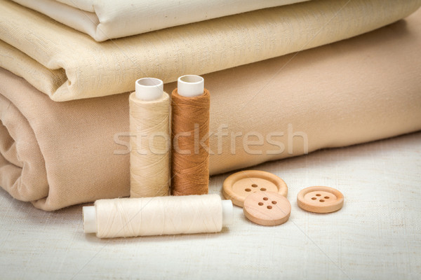 Brown sewing accessories Stock photo © erierika