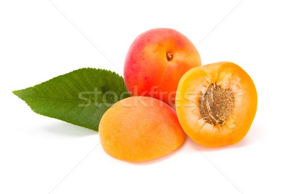 Peaches on white (Prunus persica) Stock photo © erierika