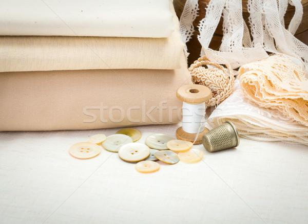 Vintage sewing craft items Stock photo © erierika