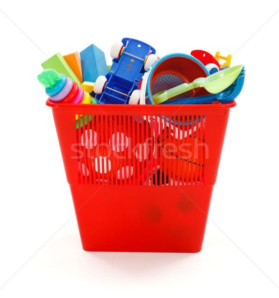 Lots of plastic toys thrown in garbage bin Stock photo © erierika