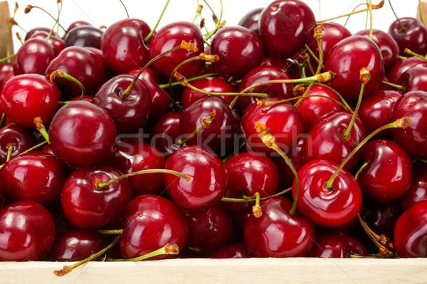 Macro of sweet cherries (Prunus avium) Stock photo © erierika