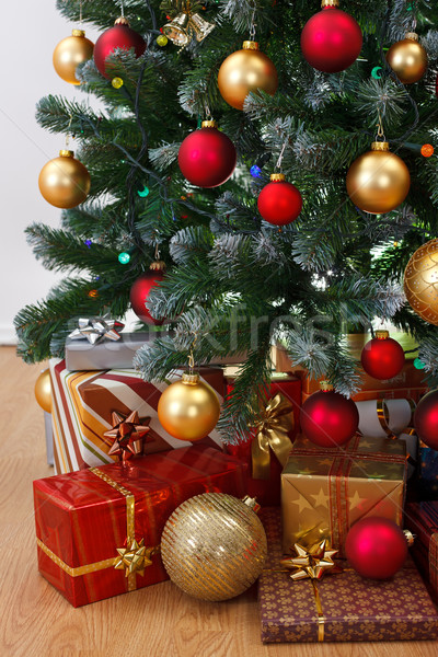 Close view of decorated Christmas tree Stock photo © erierika