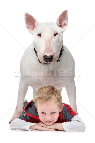 Boy with his dog Stock photo © eriklam