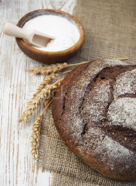 Stockfoto: Brood · brood · tarwe · rustiek · natuur · keuken