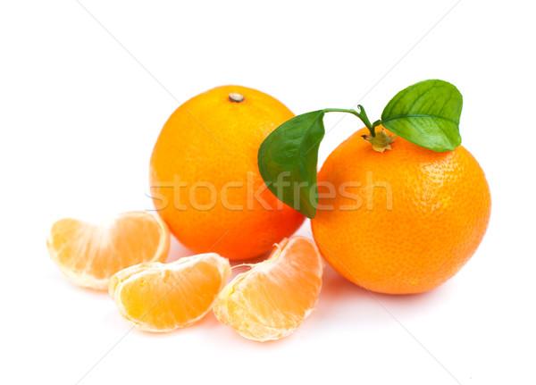 タンジェリン オレンジ 食べ 白 健康 明るい ストックフォト © Es75
