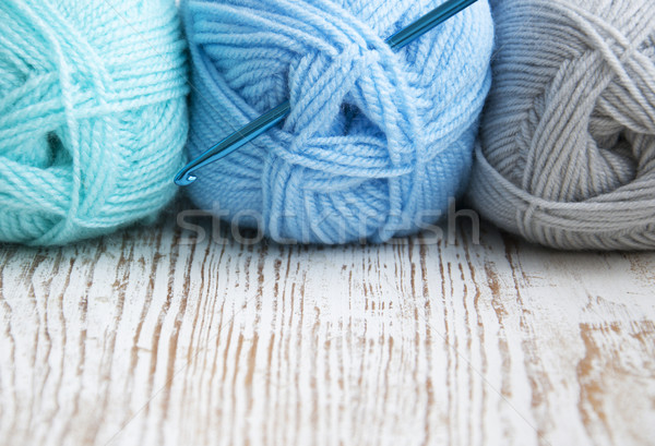Crochet hook and knitting yarn Stock photo © Es75