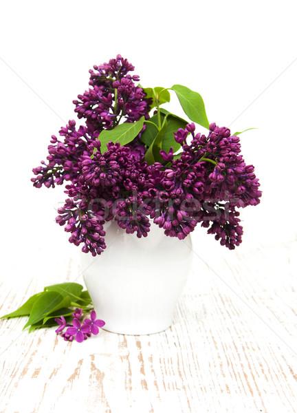 лет сирень цветы ваза цветок Сток-фото © Es75