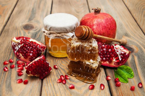 Honey with pomegranate  Stock photo © Es75