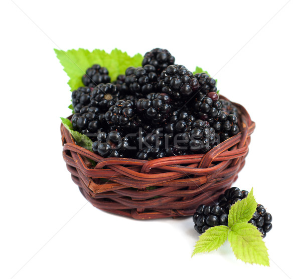 Basket  of Blackberries Stock photo © Es75