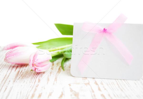 Photo stock: Carte · de · vœux · carte · vierge · printemps · Pâques · mères · jour