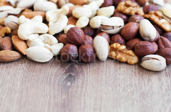смешанный орехи старые кадр природы Сток-фото © Es75