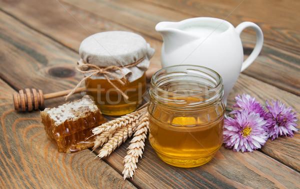 honey and milk Stock photo © Es75
