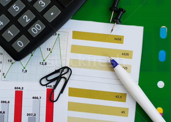 Finanziaria grafico grafico mutui pen finanziare Foto d'archivio © Es75