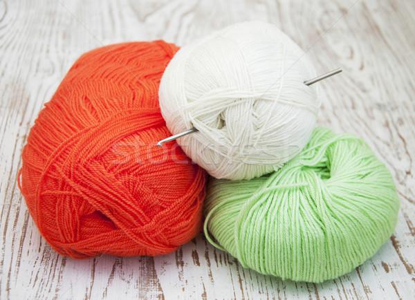 yarns and crotchet hook Stock photo © Es75