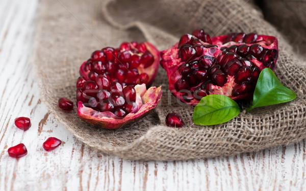 Burlap sack with pomegranate Stock photo © Es75