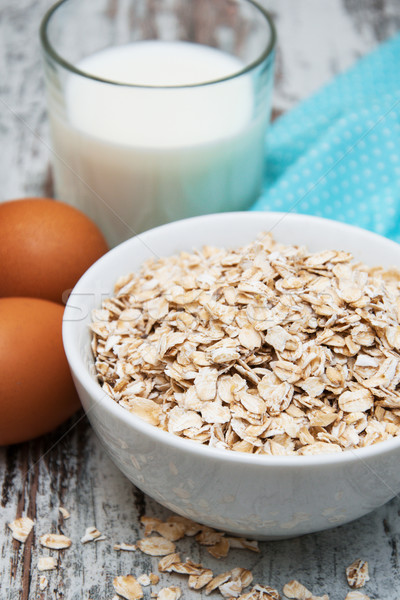 Bowl of oats  Stock photo © Es75