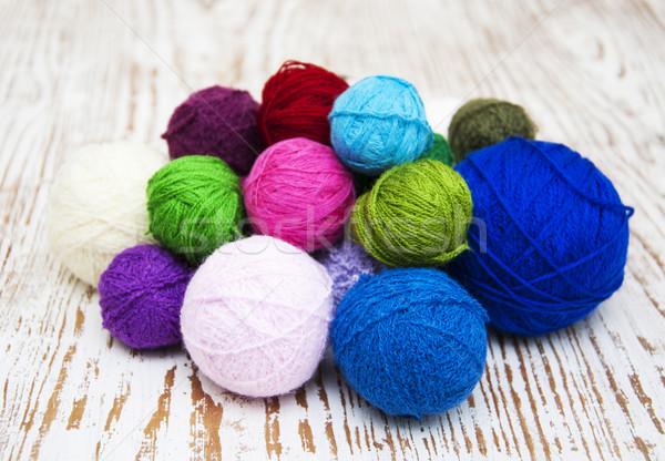 Color woolen clews Stock photo © Es75