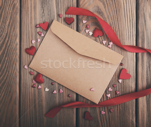 envelope with hearts- vintage toning Stock photo © Es75