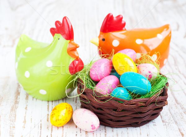 Easter eggs colorato uova tradizionale Pasqua decorazione Foto d'archivio © Es75