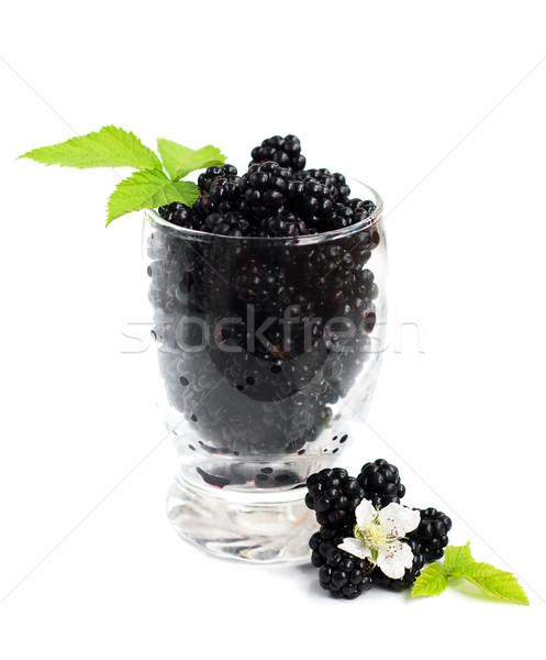 Glass of Blackberries Stock photo © Es75