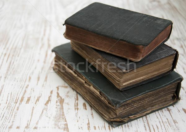 Velho livro três livros fundo carta Foto stock © Es75