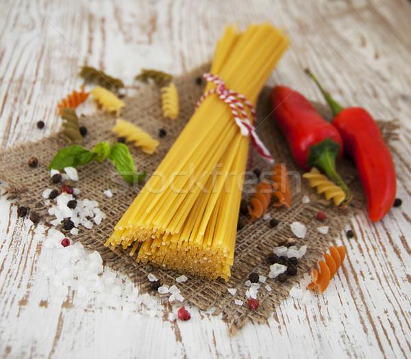 итальянский Ингредиенты пасты овощей специи Сток-фото © Es75