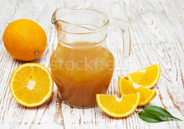 Stok fotoğraf: Portakal · suyu · taze · portakal · cam · arka · plan · yeme