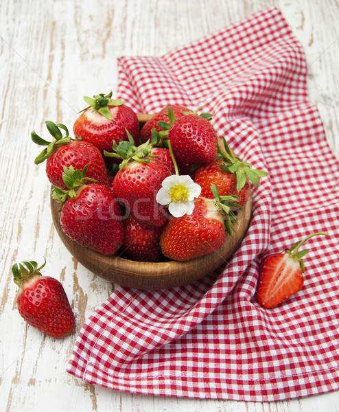 fresh sweet ripe strawberries Stock photo © Es75