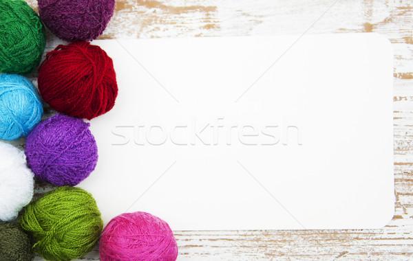 Kolor wełniany karty moda Zdjęcia stock © Es75