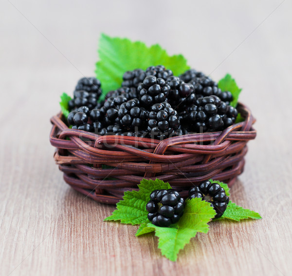 Basket  of Blackberries Stock photo © Es75