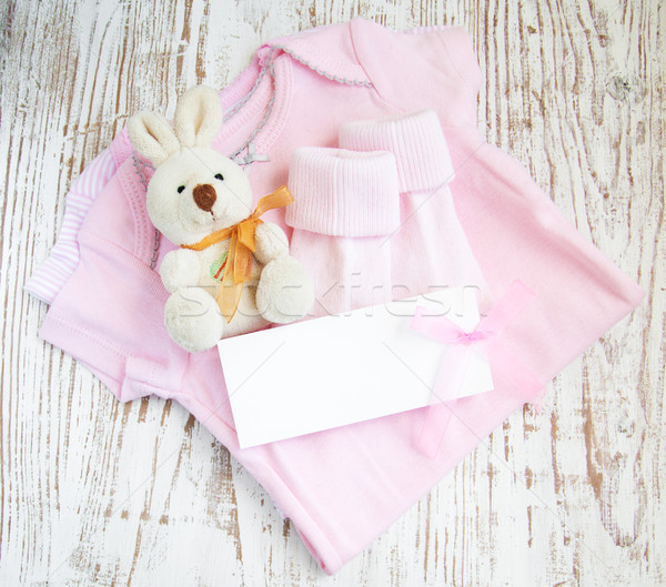 Stock photo: newborn baby greeting