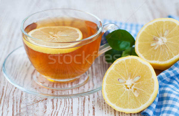 Tea and lemon slice Stock photo © Es75