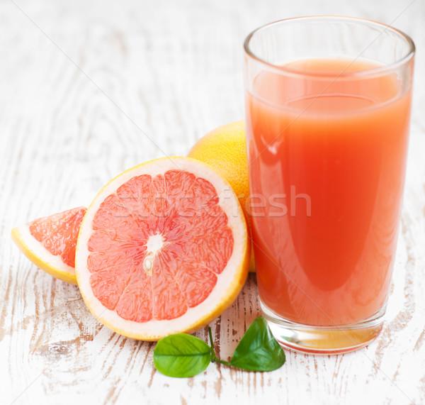 Pomelo jugo maduro alimentos madera frutas Foto stock © Es75