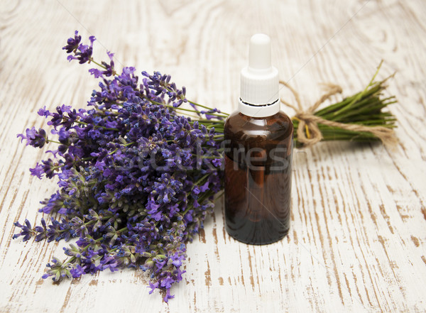 Lavender and massage oil Stock photo © Es75